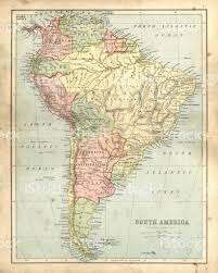 Map Of Sounth America by Antique Damaged Map Of South America In The 19th Century Stock