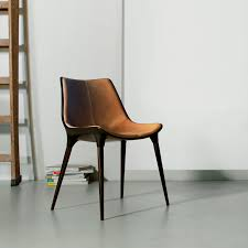 Midcentury Modern Dining Chairs - leather modern chair modern brown leather lounge chair m511y