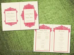 cheap wedding ceremony programs printable program lace design pdf diy wedding ceremony template