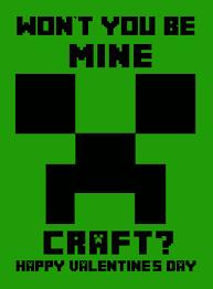 minecraft valentines free minecraft printable s this michigan