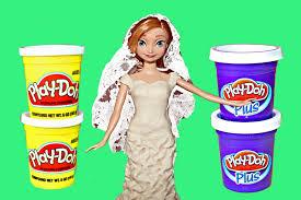 frozen wedding anna play doh wedding dress barbie disney princess
