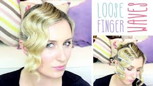 easy 1930 hair how to loose finger waves youtube