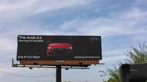 audi a3 commercial ingram audi a3 lights billboard to the finalist in 2015
