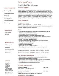 Sample Medical Office Manager Resume by Easy Medical Office Manager Resume Wondrous Resume Cv Cover Letter