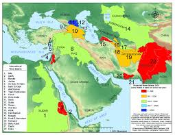middle east map water bodies water resource use and conflict in the middle east