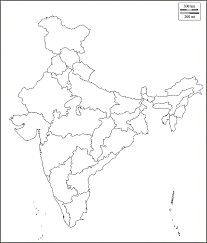 Blank Map Of India by Map Of India 28 States And Capitals India Map Outline India