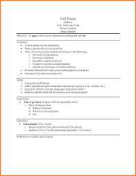 How To Type Up A Resume For A Job by How To Type A Resume For A Job Resume For Your Job Application