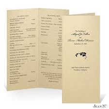 cheap ceremony programs wedding programs sle front wedding program sle ceremony