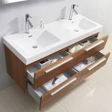 Virtu Bathroom Vanity by Virtu Usa Gloria 48 Inch Grey Double Sink Bathroom Vanity Cabinet