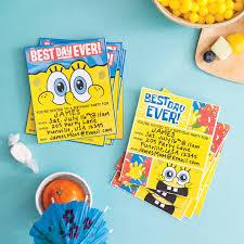 spongebob party invitations to inspire you thewhipper com