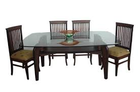 Teak Wood Dining Tables Square Dining Table Teak Wood Glass Top At Rs 24390