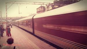 furiously smoking full speed luxury tourist train maharaja express