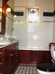 traditional bathroom designs ideas featuring brown laminated