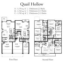 Spanish Floor Plans Townhome Unit C Quail Hollow Townhomes Spanish Fort Alabama