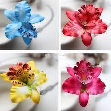 hair barettes bridal wedding orchid flower hair clip barrette women