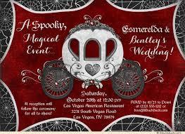 Red And Black Wedding Invitations Fairytale Wedding Invitation Carriage U0026 Spiderwebs Event