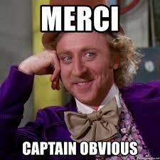 Captain Obvious Meme - merci captain obvious willy wonka meme generator
