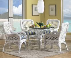 High Top Patio Dining Set White Wicker Glass Top Dining Table Best Gallery Of Tables Furniture