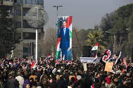 Rebel Syrian Flag His Country A Smoldering Ruin But Assad Still In His Seat The