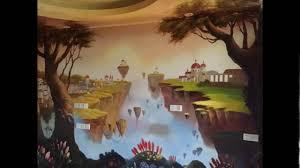 avatar floating islands on pandora hand painted wall murals youtube avatar floating islands on pandora hand painted wall murals