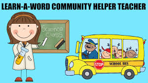community helpers teacher learn a word spelling with paw patrol