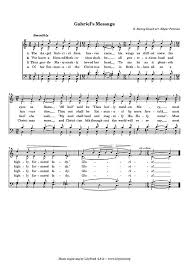 gabriel s message satb sheet cantorion free sheet