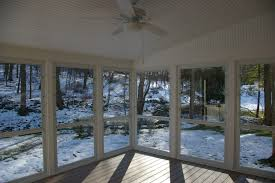 Windows For Porch Inspiration Outstanding Enclosed Porch With Opened Wide Glass Doors And