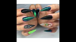 stiletto nail art compilation ideas and designs for stilleto