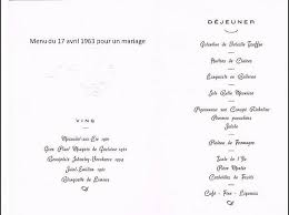prã sentation menu mariage on mange quoi demain un menu de mariage en 1963 paperblog