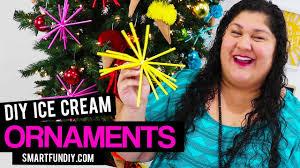 diy ice cream cone ornaments upside down christmas tree youtube