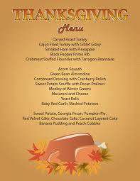 thanksgiving uncategorizedng menu picture inspirations menus