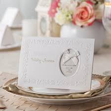leaf embossing frame decoration design fashion wedding invitation