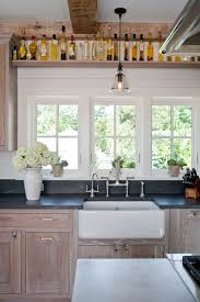 wire brushed white oak kitchen cabinets wire brushed oak cabinets country kitchen shelter
