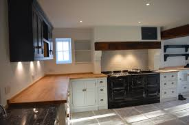 beautiful country kitchen with pale blue base units and u0027boardroom