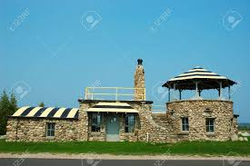 Building A Home In Michigan by Stone Building A Building Made Entirely Of Stone And Rocks