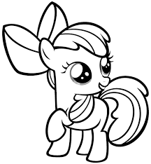 my little pony coloring pages apple bloom coloringstar