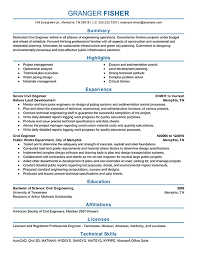 exles of professional resume technical resume template civil engineer resume exle