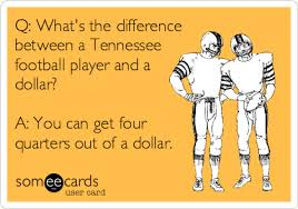 Tennessee Football Memes - q what s the difference between a tennessee football player and a
