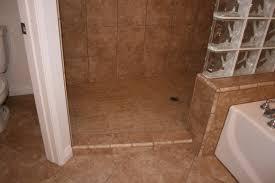 Open Showers No Doors Doorless Walk In Shower Small Bathroom Remodel With Open Glass