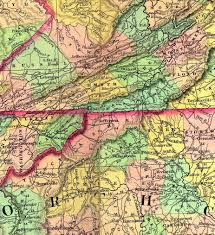 Va County Map Neighboring States And District Of Columbia