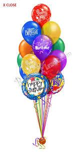 balloon arrangements for birthday classic combo birthday balloon bouquet 15 balloons balloon