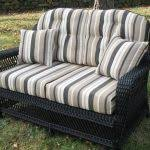 Wicker Loveseat Replacement Cushions Classic Rattan Wicker Old Floral Cushion Wicker Furniture