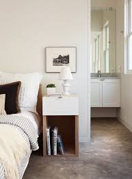 san francisco narrow bedside table bedroom transitional with