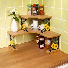 étagère en fer forgé pour cuisine etagère tournesol ustensiles de cuisine décoration table