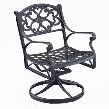 7 Piece Patio Dining Set With Swivel Chairs - outdoor swivel chair modern chairs design