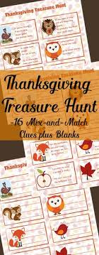 free printable thanksgiving riddle treasure hunt 18 mix and match