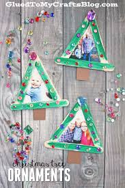 popsicle stick tree frame ornaments stick tree