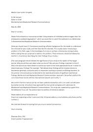 cover letter journal example image collections letter samples format