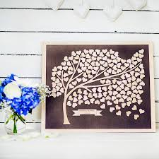 alternative wedding guest book tree personalised alternative wedding guest book by gift