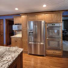 Microwave Kitchen Cabinet Kitchen Impressive Built In And Integrated Refrigerator On